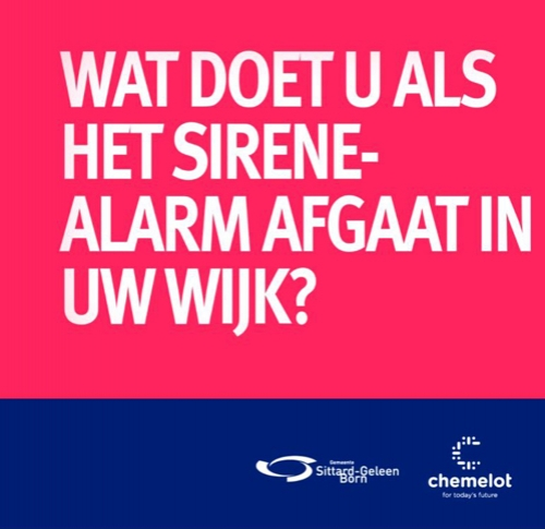 Sittard-Geleen & Chemelot - Ontwerp Flyer & Video Sirene-Alarm